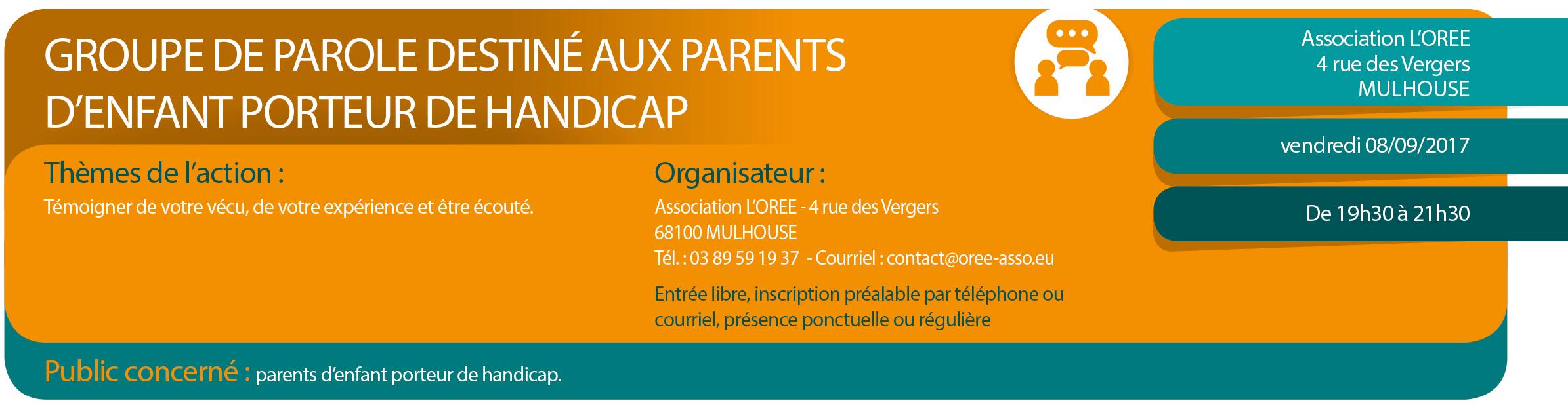 Groupe de parole - Enfants porteurs de handicap à Mulhouse - Réseau Parents 68